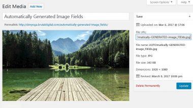 Wordpress Automatically Set Image Alt Text